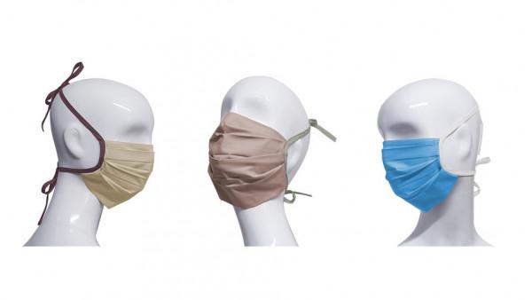 Baumwollmaske 3-er Set (rosa, beige, hellblau)