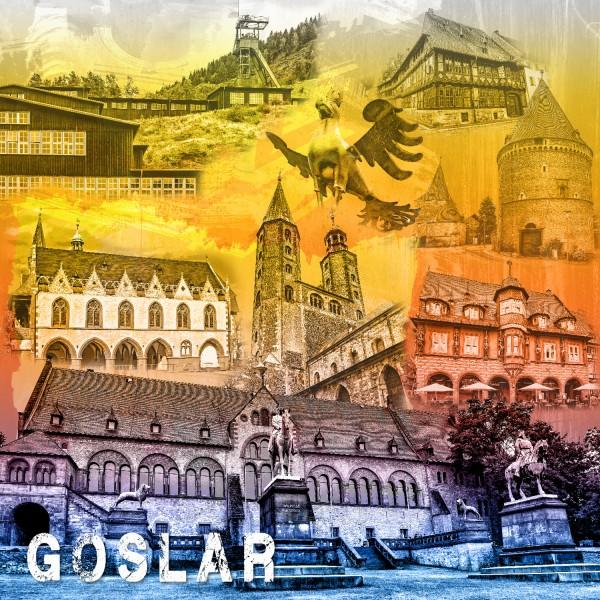 Stadtcollage Goslar 50x50