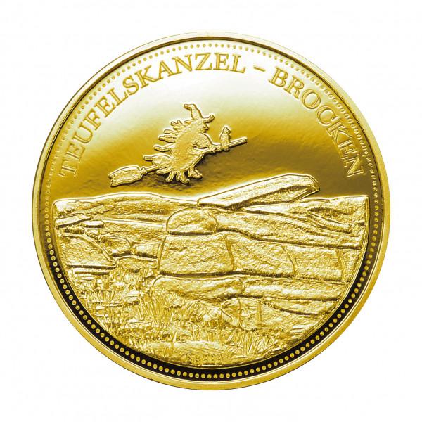 """Hexentaler """"Teufelskanzel - Brocken"""" - Gold"""