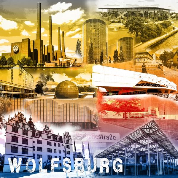 Stadtcollage Wolfsburg 50x50