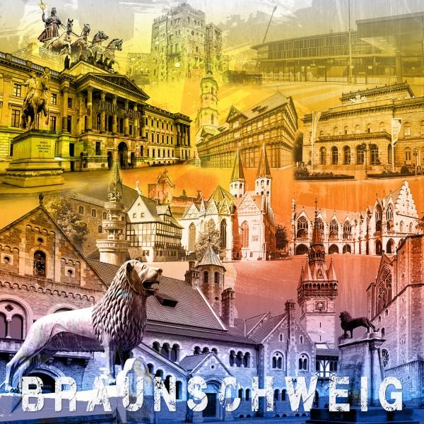 Stadtcollage Braunschweig 50x50