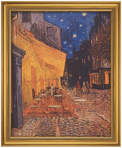 """Vincent van Gogh: Bild """"Caféterrasse am Abend"""" (1888), gerahmt"""