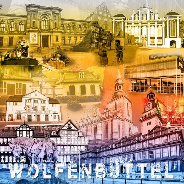 Stadtcollage Wolfenbüttel 50x50