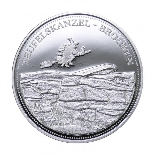 """Hexentaler """"Teufelskanzel-Brocken""""- Silber"""