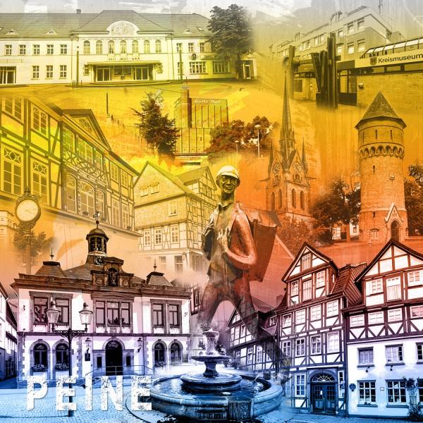 Stadtcollage Peine 50x50